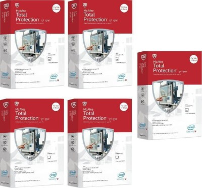 McAfee total protection 5 pc 1 year pack of 3