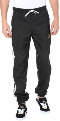 Puma Solid Men Black Track Pants at flipkart