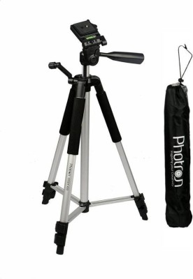 Photron Tripod Stedy 450 with 4.5 Feet Pan Head + Extra Quick Release Plate + Foam Grip + Carry Case Tripod Kit   Black, Silver, Supports Up to 2.75 g