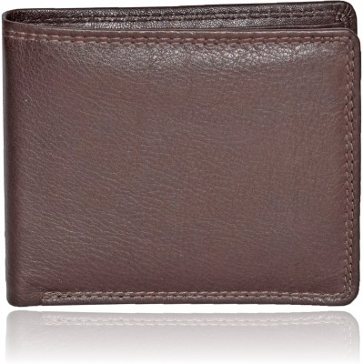 Death By Color Men Casual Brown Genuine Leather Wallet 9 Card Slots