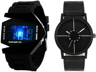 NUBELA Combo Of 2 Analog And Digital Led-Roc M-201 Watch  - For Boys & Girls