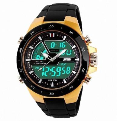 Skmei 1016-Gold Chronograph Watch  - For Men & Women