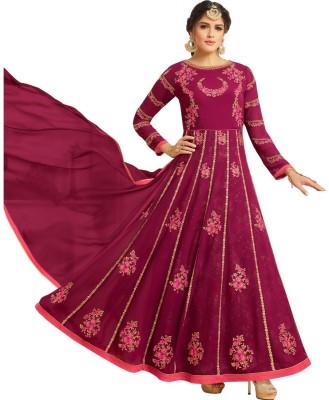 Divastri Faux Georgette Embroidered Salwar Suit Dupatta Material(Un-stitched)