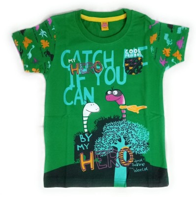 Aayushicollections Boys Printed Cotton T Shirt(Green 1b4692c25eb43