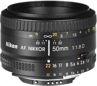NIKON AF Nikkor 50 mm f/1.8D Lens(Black)