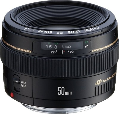 Canon EF 50 mm f/1.4 USM Lens  Lens for(Black) at flipkart