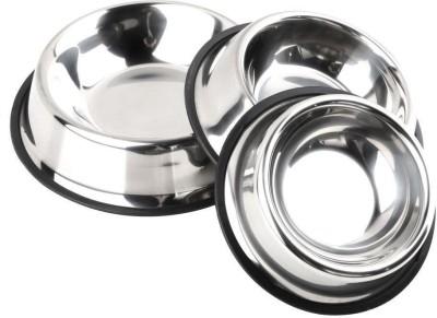 FOODIE PUPPIES  Set of 3  Round Steel Pet Bowl 900 ml Steel FOODIE PUPPIES Dog Bowls