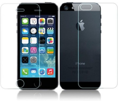 Case Creation Front and Back Tempered Glass for Apple Iphone 4 4S 4SE(Pack of 2)