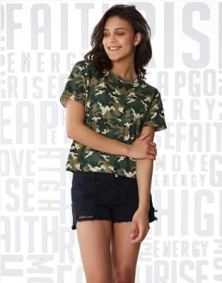 Indi Hemp Men Military Camouflage Casual Multicolor Shirt