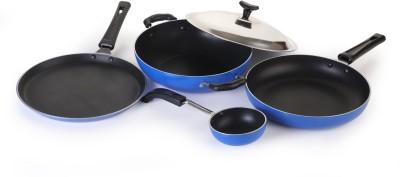 Crystal Eco Series Cookware Set(Aluminium, 5 - Piece)