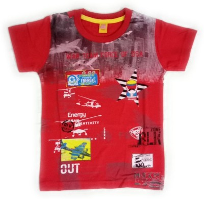 Aayushicollections Boys Printed Cotton T Shirt(Red 98e34e48924ba