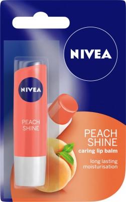 Nivea Shine Caring Lip Balm Peach(Pack of: 1, 4.8 g)