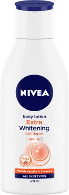 Nivea Extra Whitening Cell Repair Body Lotion (120ml)