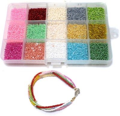 Jaunty Beadsnfashion Jewellery Making Seed Beads Colors Of Joy DIY Kit (15 Colors)