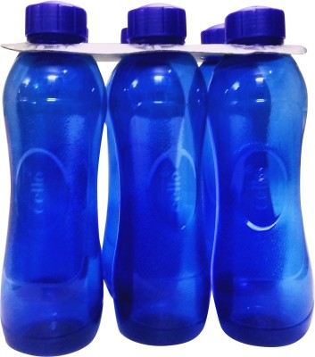 Cello vegas blue fridge bottle set 1000 ml Bottle(Pack of 6, Blue)