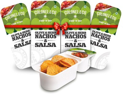 Colonel & Co Olive Herb Nachos with Salsa Chips(299 g)  available at flipkart for Rs.240