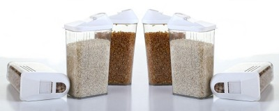 Flipkart SmartBuy Dome Lid Tea Sugar Cofee  - 750 ml Steel Tea Coffee & Sugar Container(Pack of 3, Steel)
