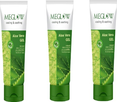 meglow Aloe Vera Gel set of 3 Face Wash(300 g)  available at flipkart for Rs.314