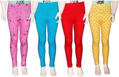 Ehiose Legging For Girls Pink Pack of 4 Ehiose Kids' Leggings and Churidars