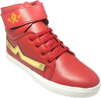 Indcrown Boys Velcro Dancing Shoes(Red)