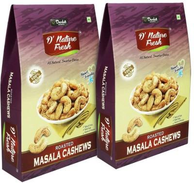 D' Nature Fresh D'nature fresh Roasted Cashew nut (Kaju) 400 gm, Pack of 2 Cashews(200 g, Pouch)
