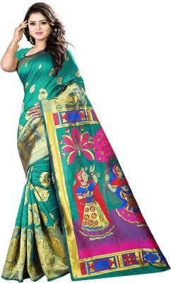 b1f56e8fc994c1 76% OFF on Shoppershopee Self Design Paithani Banarasi Silk
