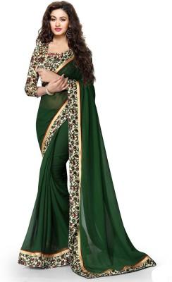 8b8414512 Mansvi Fashion Printed Fashion Georgette Saree(Green)