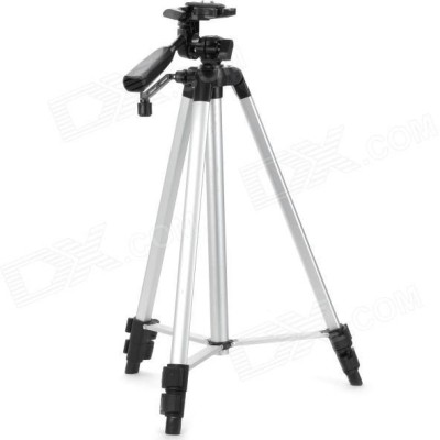 Zeom  Pro Aluminum Tripod Stand For Digital Camera Camcorder and Mobile holder Tripod Kit, Tripod, Tripod Ball Head  (Silver, Black, Supports Up to 3000 g) Tripod(Silver, Black, Supports Up to 1500 g) 1