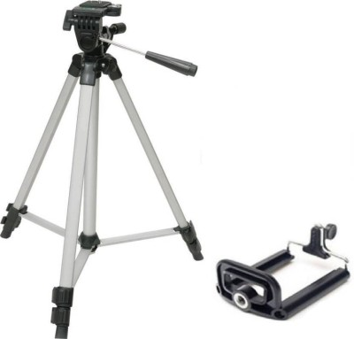 Zeom ™Smart TF-330A Portable Stand Kit for Professional Digital SLR Tripod (Black, Supports Up to 1500 g) Tripod(Silver, Black, Supports Up to 1500 g)