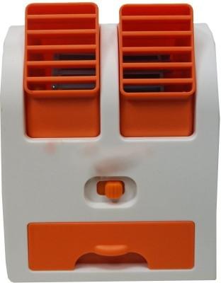 Cierie Small Air Conditioner Water Air Cooler Z 2 USB Fan Orange