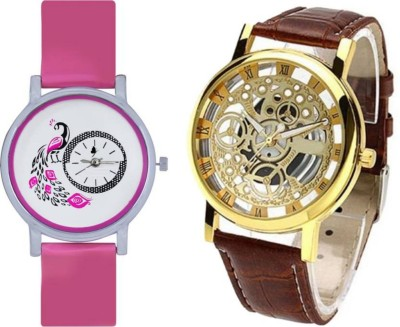 PMAX 2 GLORY PINK DIAL AND GOLDEN MEN NEW STYLISH FOR Watch  - For Men & Women