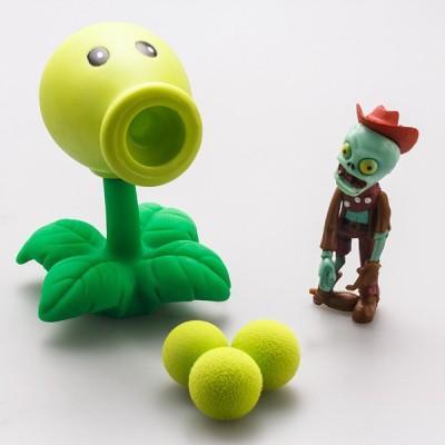 ZenShanti PVZ Plants vs Zombies Peashooter Action Figure Toy for Kids(Green)