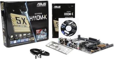 Asus H110M-K USB 3.0 Motherboard Intel Core i3 6th Gen with Ram 4GB Combo Motherboard(Gree, Black)