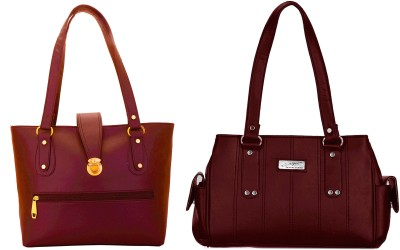 09307f59d395 77% OFF on Lady bar Shoulder Bag(Maroon