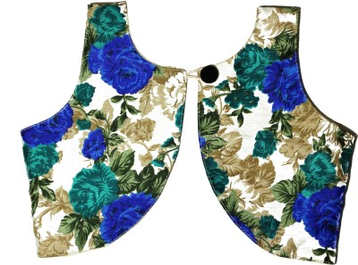 MVD Fashion Girls Festive & Party Ethnic Jacket, Blouse and Pallazo Set(Blue Pack of 1)