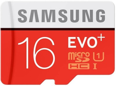 Samsung EVO Plus 16 GB MicroSDHC Class 10 48 MB/s  Memory Card