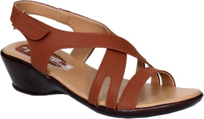 Dolphin Miles Women Tan Wedges