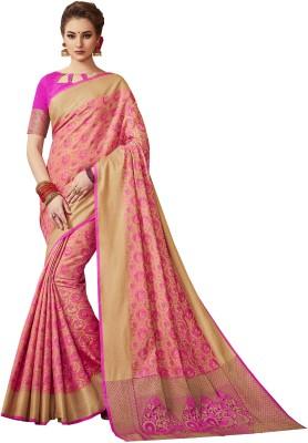 8e0130a882e796 75% OFF on EthnicJunction Woven Patola Silk Cotton Blend Saree(Pink) on  Flipkart