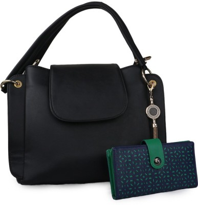 Arfafashions Women Black Sling Bag at flipkart