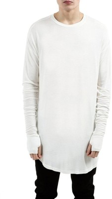 PAUSE Solid Men's & Women's Round Neck White T-Shirt