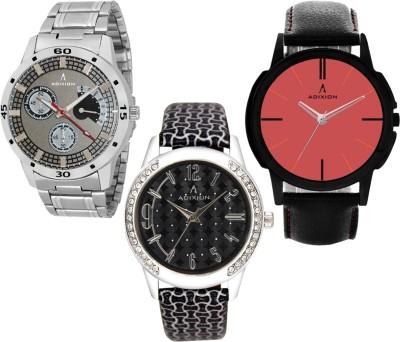 ADIXION 9519SMA2\\9406SL01\\9502NL08 Tri Combo Leady & Gents Analog Watch Watch  - For Men & Women