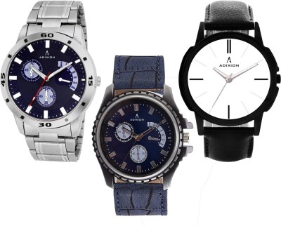 ADIXION 2580S9519SM01SMA1 Combo Leady & Gents Analog Stainless Steel Wrist Watch Watch  - For Men & Women