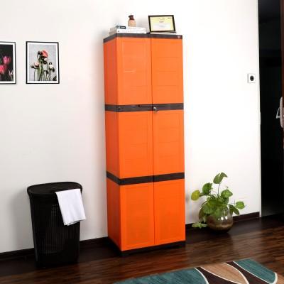 Cello Novelty Large Plastic Cupboard(Finish Color - ORANGE & BROWN)