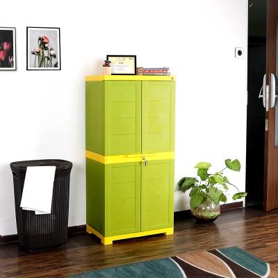 Spacewood Engineered Wood 2 Door Wardrobe(Finish Color - WALNUT RIGATO, Mirror Included)