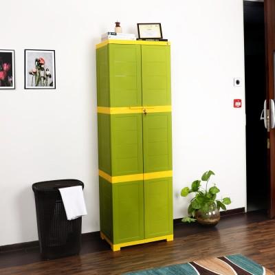 Cello Novelty Big Plastic Cupboard(Finish Color - ORANGE & BROWN)