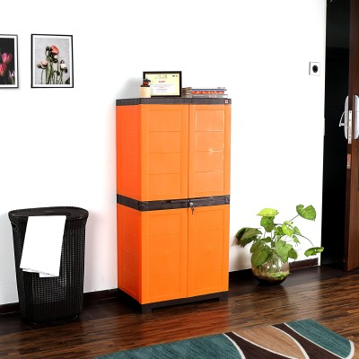 Cello Novelty Large Plastic Cupboard(Finish Color - GREEN & YELLOW)