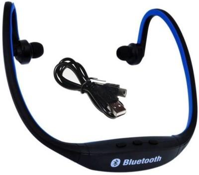 ZEVORA BS19C Wireless Bluetooth Sports Headset Bluetooth Headset with Mic (Blue, In the Ear) Bluetooth Headset with Mic(Blue, In the Ear)