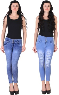 koncolor Slim Men Blue Jeans