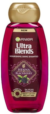 Garnier New Ultra Blends Heena & Blackberry, Nourshing Shine Shampoo(180 ml)