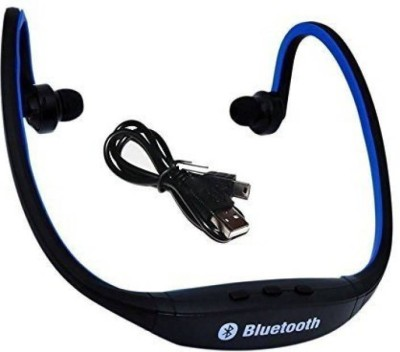 BJOS BS19C Wireless Bluetooth Sports Headset Bluetooth Headset with Mic   Multicolor, In the Ear  Smart Headphones